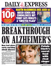 Daily Express (UK) Newspaper Front Page for 22 March 2017