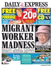Daily Express (UK) Newspaper Front Page for 22 April 2017