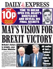 Daily Express (UK) Newspaper Front Page for 22 September 2017