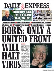 Daily Express front page for 22 September 2020