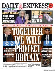 Daily Express front page for 23 October 2020