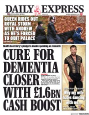 Daily Express (UK) Newspaper Front Page for 23 November 2019
