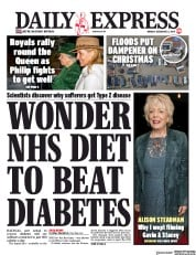 Daily Express () Newspaper Front Page for 23 December 2019