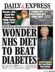 Daily Express (UK) Newspaper Front Page for 23 December 2019