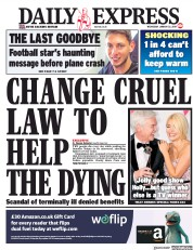 Daily Express (UK) Newspaper Front Page for 23 January 2019