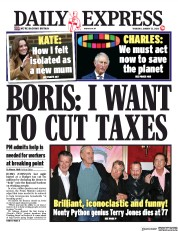 Daily Express () Newspaper Front Page for 23 January 2020
