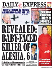 Daily Express () Newspaper Front Page for 23 February 2019
