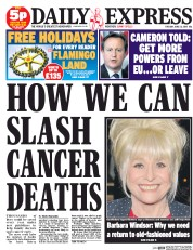 Daily Express () Newspaper Front Page for 23 June 2015