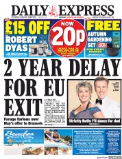 Daily Express (UK) Newspaper Front Page for 23 September 2017