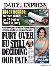 Daily Express (UK) Newspaper Front Page for 24 October 2019