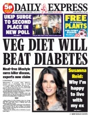 Daily Express (UK) Newspaper Front Page for 24 November 2014