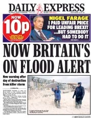 Daily Express (UK) Newspaper Front Page for 24 February 2017