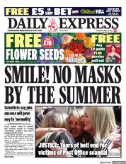 Daily Express front page for 24 April 2021