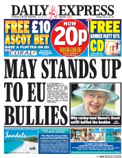 Daily Express (UK) Newspaper Front Page for 24 June 2017