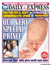 Daily Express (UK) Newspaper Front Page for 24 July 2013