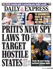 Daily Express front page for 24 July 2020