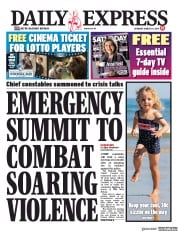 Daily Express (UK) Newspaper Front Page for 24 August 2019