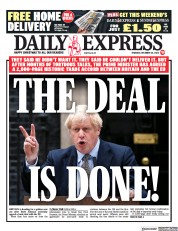 Daily Express (UK) Newspaper Front Page for 25 December 2020