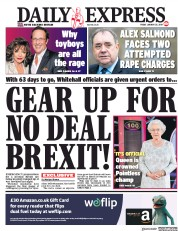 Daily Express (UK) Newspaper Front Page for 25 January 2019