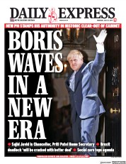 Daily Express (UK) Newspaper Front Page for 25 July 2019