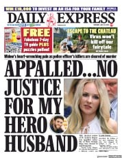 Daily Express front page for 25 July 2020