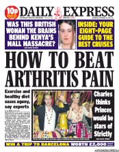 Daily Express () Newspaper Front Page for 25 September 2013