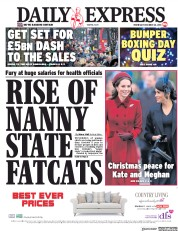 Daily Express (UK) Newspaper Front Page for 26 December 2018