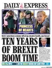 Daily Express (UK) Newspaper Front Page for 26 December 2019