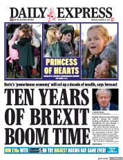 Daily Express () Newspaper Front Page for 26 December 2019