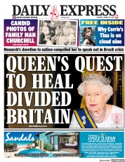 Daily Express () Newspaper Front Page for 26 January 2019