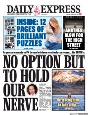 Daily Express front page for 26 January 2021