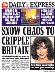 Daily Express (UK) Newspaper Front Page for 26 February 2018