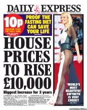 Daily Express () Newspaper Front Page for 26 April 2013