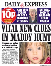 Daily Express (UK) Newspaper Front Page for 26 April 2017