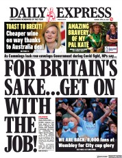 Daily Express () Newspaper Front Page for 26 April 2021