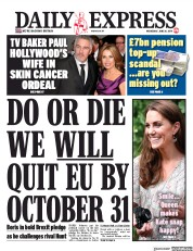 Daily Express (UK) Newspaper Front Page for 26 June 2019