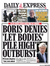 Daily Express () Newspaper Front Page for 27 April 2021