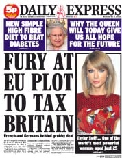 Daily Express (UK) Newspaper Front Page for 27 May 2015
