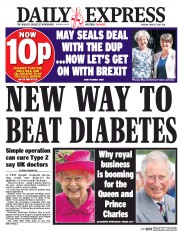 Daily Express (UK) Newspaper Front Page for 27 June 2017
