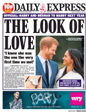 Daily Express (UK) Newspaper Front Page for 28 November 2017