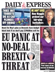 Daily Express (UK) Newspaper Front Page for 28 December 2018