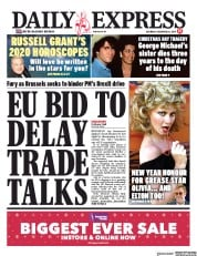 Daily Express () Newspaper Front Page for 28 December 2019
