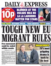 Daily Express (UK) Newspaper Front Page for 28 February 2017