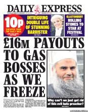 Daily Express Newspaper Front Page (UK) for 28 March 2013