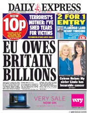Daily Express (UK) Newspaper Front Page for 28 March 2017