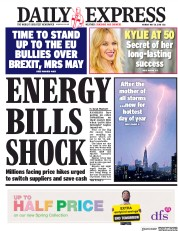 Daily Express (UK) Newspaper Front Page for 28 May 2018
