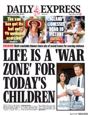 Daily Express (UK) Newspaper Front Page for 28 June 2019