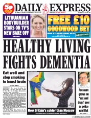 Daily Express (UK) Newspaper Front Page for 28 July 2015