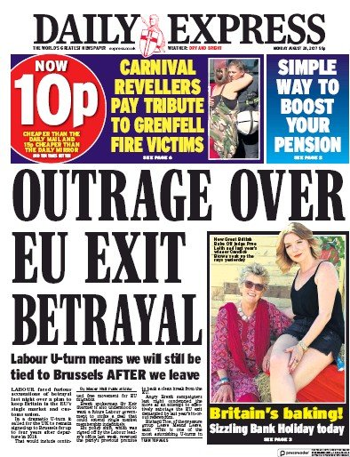 daily express and the front page of the times essay