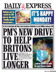 Daily Express (UK) Newspaper Front Page for 29 March 2021